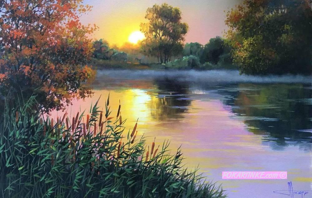 Ранок на річці - картинная галерея PoKartinke.com