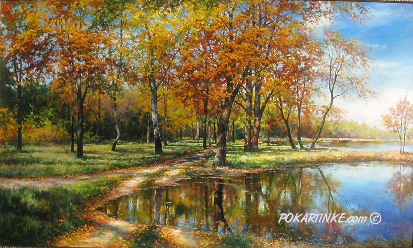 Река Турунчук осенью - картинная галерея PoKartinke.com