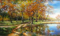 Река Турунчук осенью
