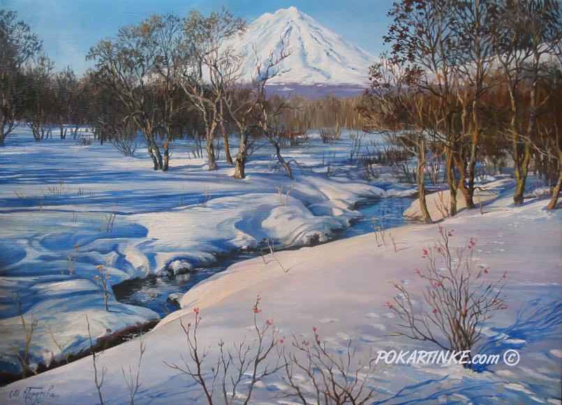 У зимнего ручья - картинная галерея PoKartinke.com
