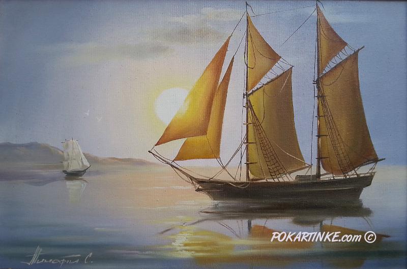 Утренний парус - картинная галерея PoKartinke.com