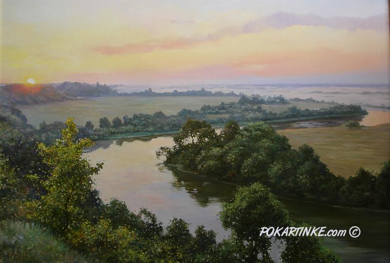 Утренняя река - картинная галерея PoKartinke.com