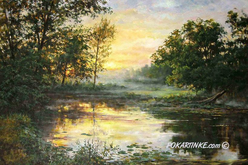 Утро на реке - картинная галерея PoKartinke.com