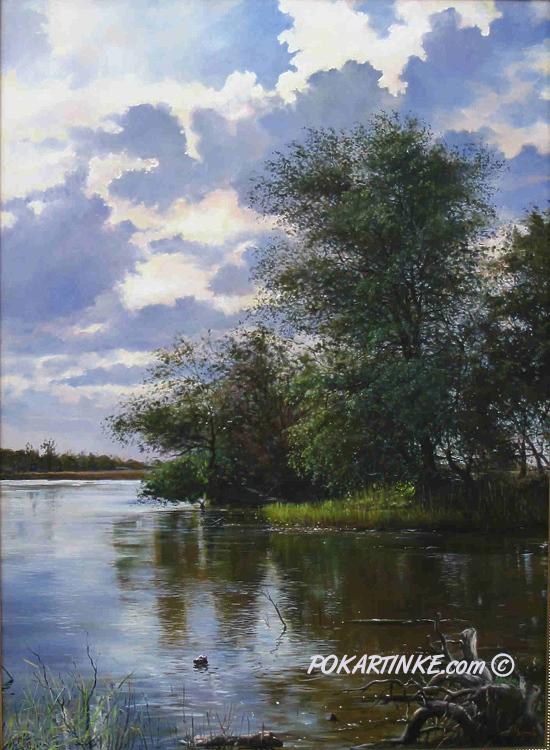 Утро на реке Турунчук - картинная галерея PoKartinke.com
