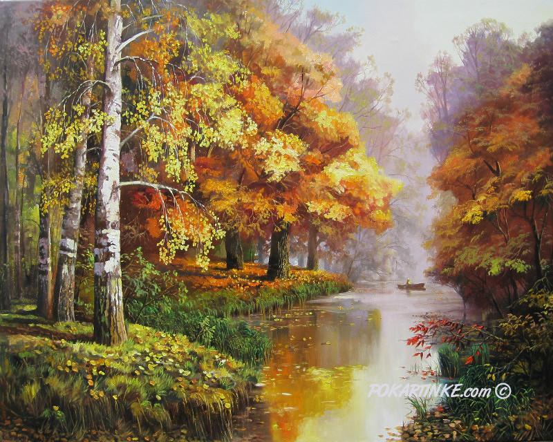 Утро в лесу - картинная галерея PoKartinke.com