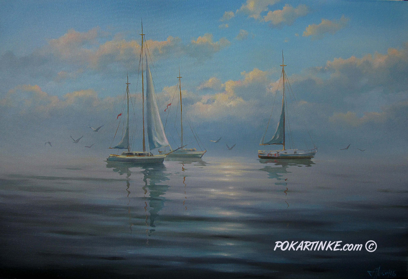 Утреннее море - картинная галерея PoKartinke.com