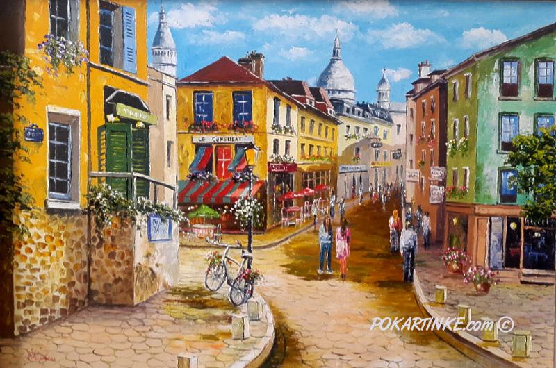 Монмартр - картинная галерея PoKartinke.com