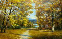 Золотая осень в изумрудном каньоне