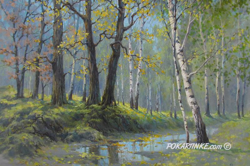 В лесу после дождя - картинная галерея PoKartinke.com