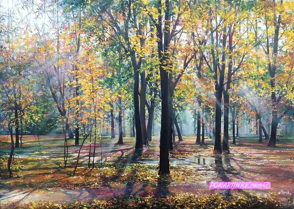В лучах осеннего рассвета - картинная галерея PoKartinke.com
