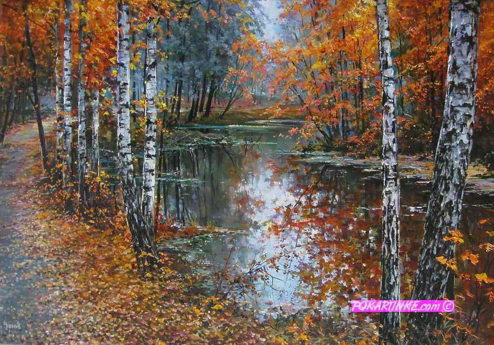 В оранжевом зеркале - картинная галерея PoKartinke.com