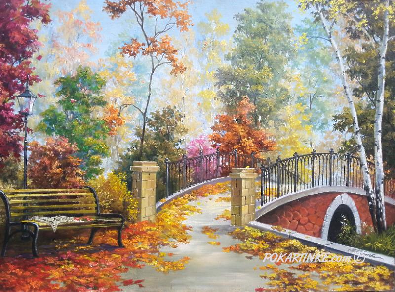 В осеннем парке - картинная галерея PoKartinke.com