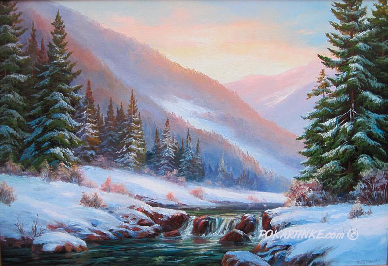 В зимних Карпатах - картинная галерея PoKartinke.com