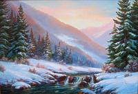 В зимних Карпатах