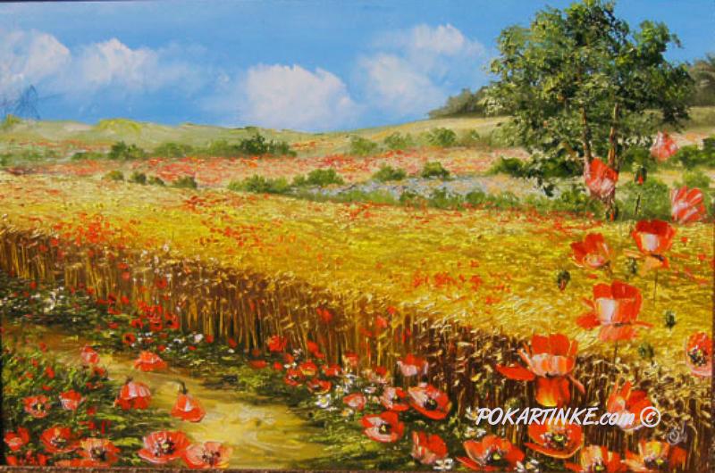 Вдоль поля - картинная галерея PoKartinke.com