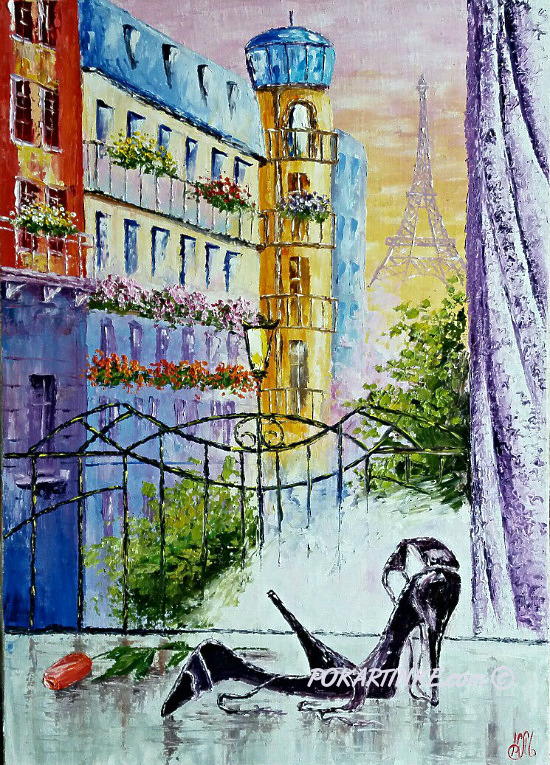Вечер в Париже - картинная галерея PoKartinke.com