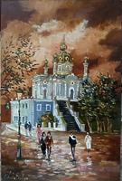 Андреевская церковь вечером
