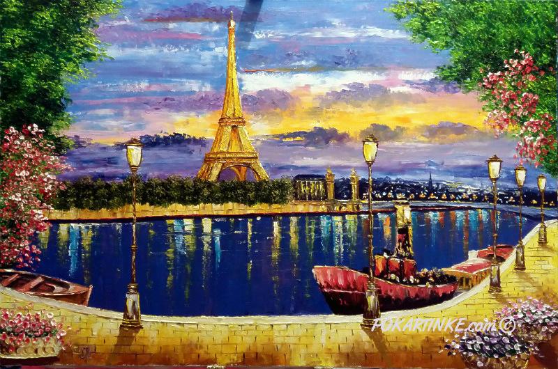 Вечерняя романтика Парижа - картинная галерея PoKartinke.com
