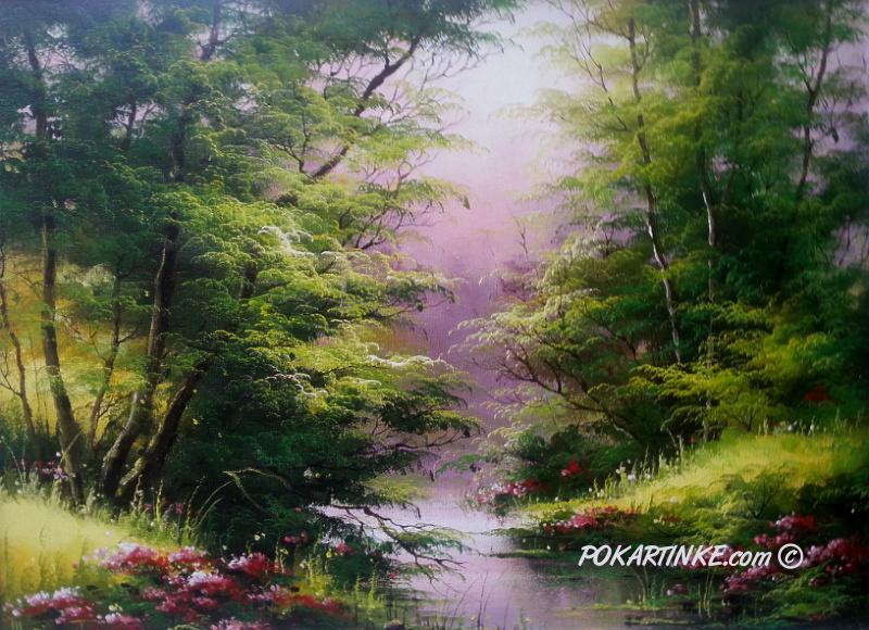 Весенний ручей - картинная галерея PoKartinke.com
