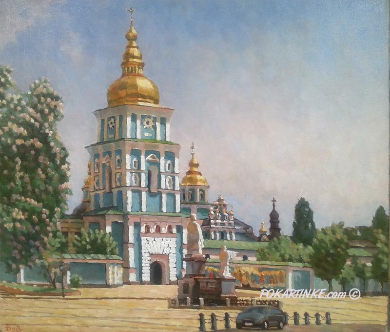 Весна у Михайловского монастыря - картинная галерея PoKartinke.com