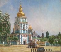 Весна у Михайловского монастыря