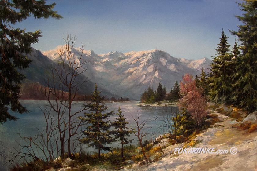 Весна в горах - картинная галерея PoKartinke.com