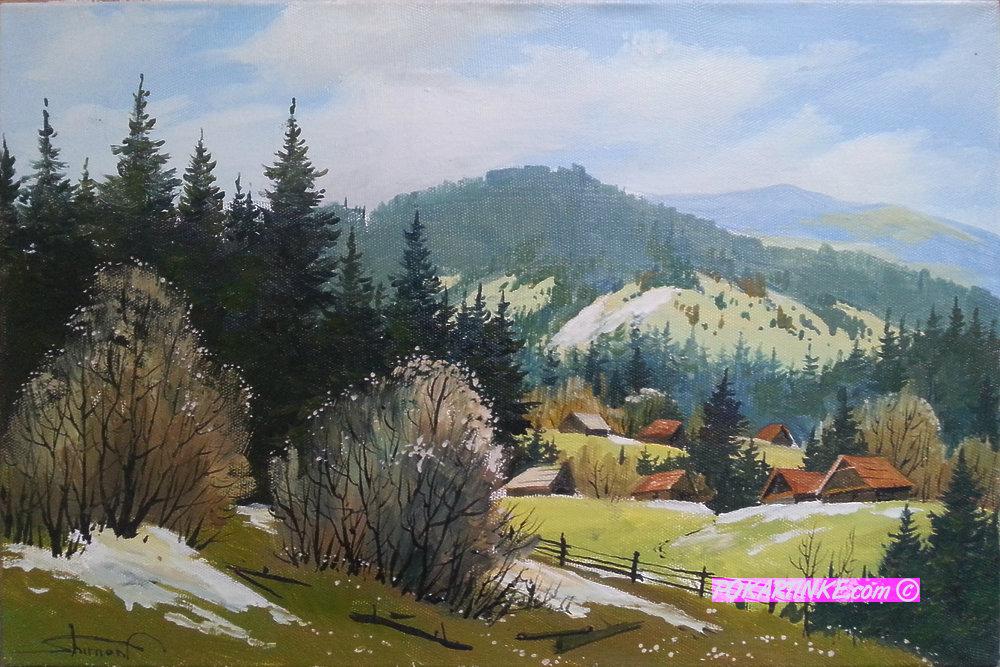Весна в Карпатах - картинная галерея PoKartinke.com