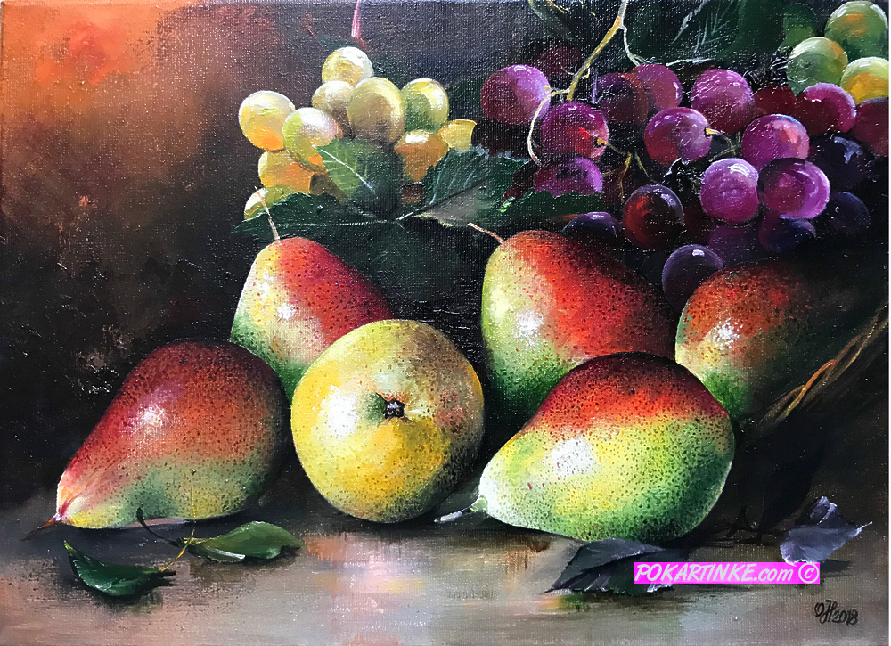 Груши и виноград - картинная галерея PoKartinke.com