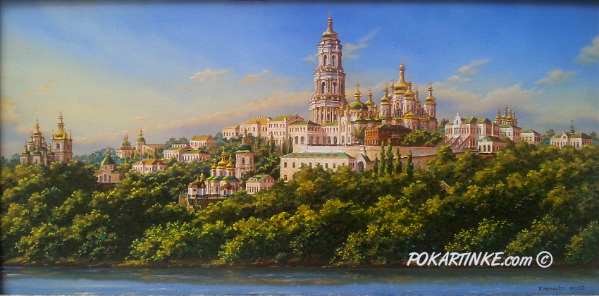 Вид на Лавру - картинная галерея PoKartinke.com