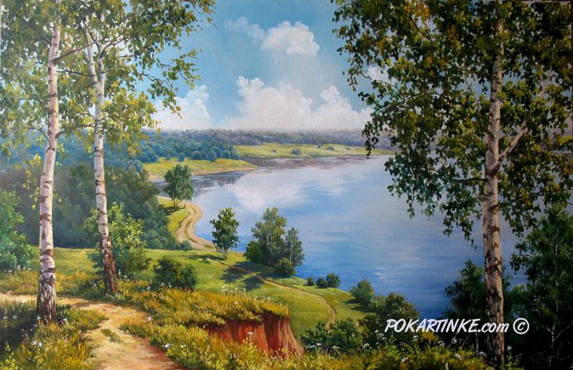 Вид на реку - картинная галерея PoKartinke.com