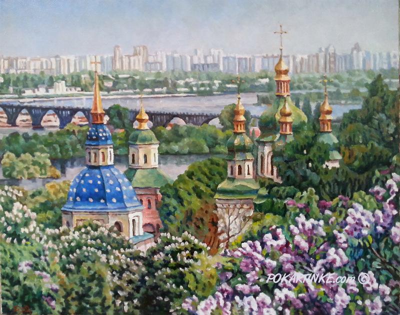 Выдубецкий монастырь в мае - картинная галерея PoKartinke.com