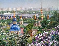 Выдубецкий монастырь в мае