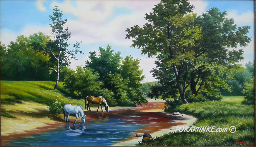 На водопое - картинная галерея PoKartinke.com