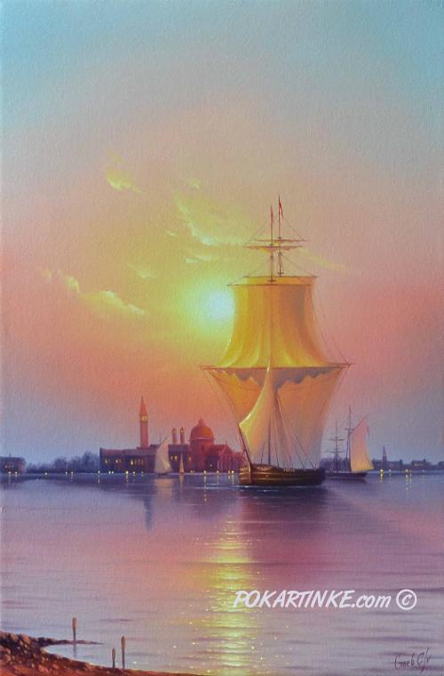 Восход солнца над Венецией - картинная галерея PoKartinke.com