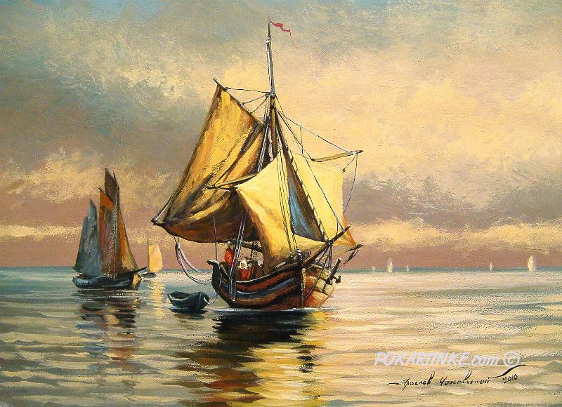 Возвращение рыбаков - картинная галерея PoKartinke.com