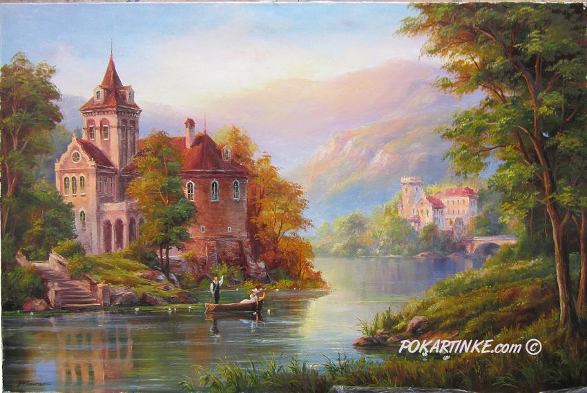 Замок у реки - картинная галерея PoKartinke.com