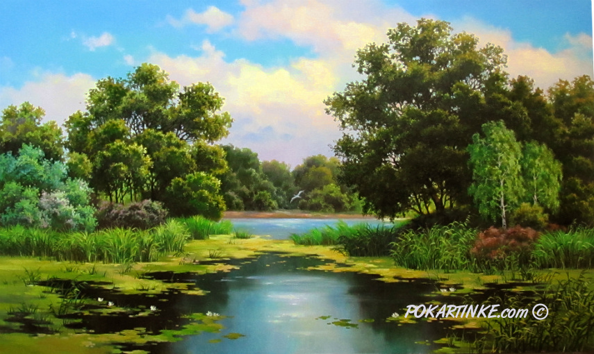 Заросший пруд - картинная галерея PoKartinke.com