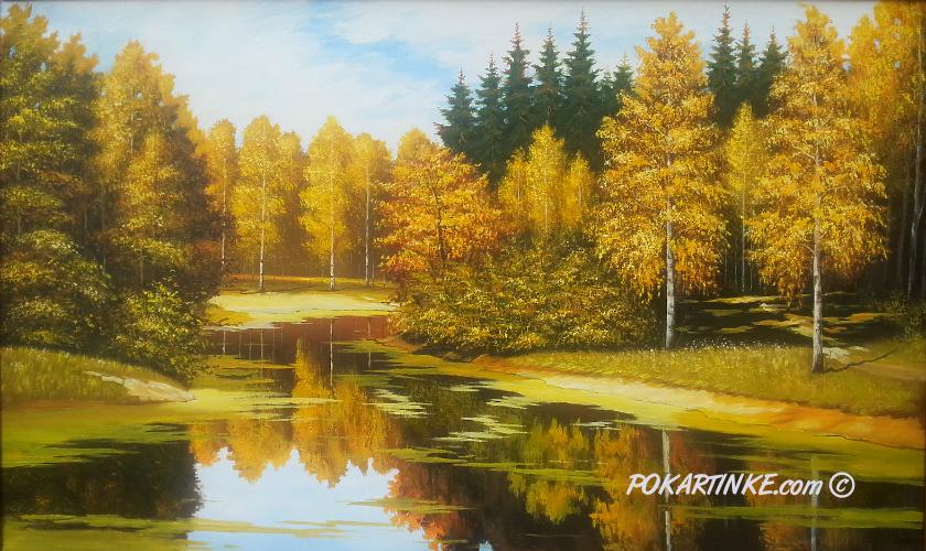 Зеркальная осень - картинная галерея PoKartinke.com