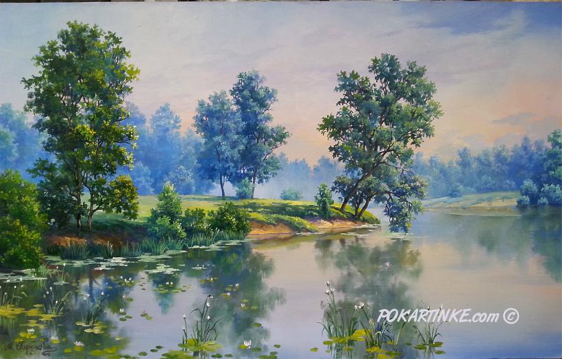Зеркальное утро - картинная галерея PoKartinke.com