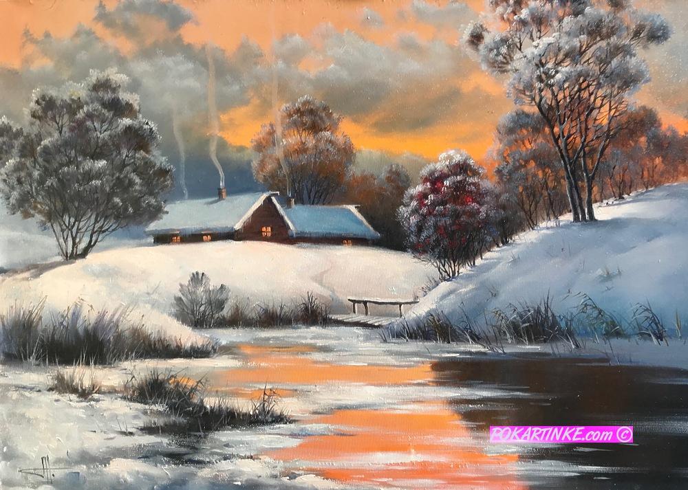 Зимний пейзаж - картинная галерея PoKartinke.com