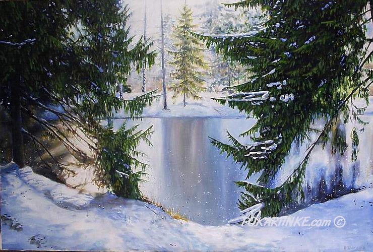 Зима - картинная галерея PoKartinke.com
