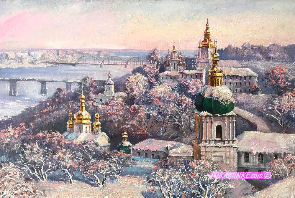Зима в Лавре - картинная галерея PoKartinke.com