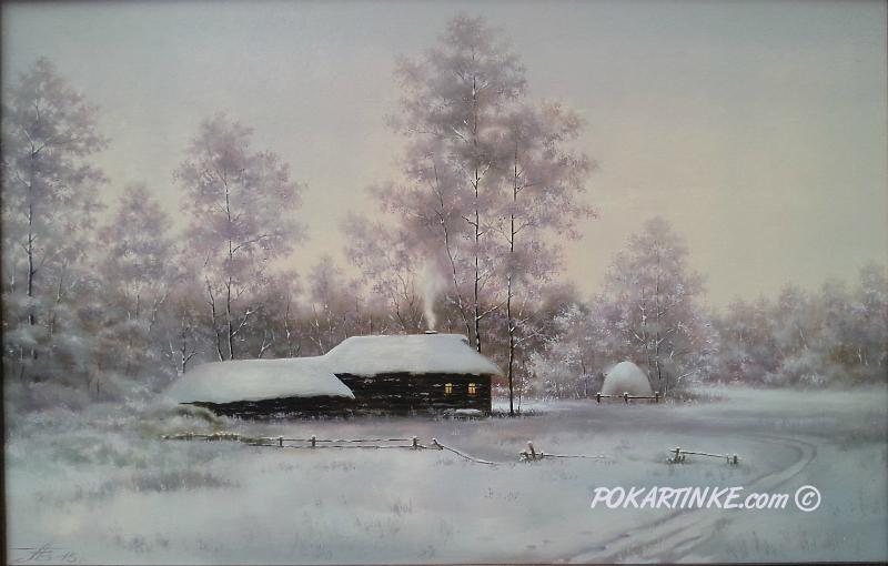 Зимней порой - картинная галерея PoKartinke.com