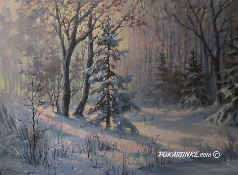 Зимний лес - картинная галерея PoKartinke.com