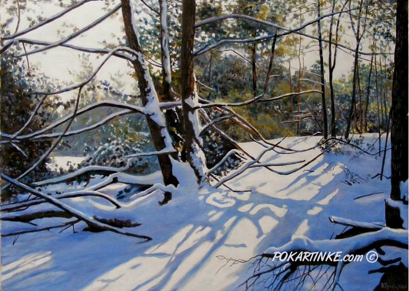 В зимнем лесу - картинная галерея PoKartinke.com