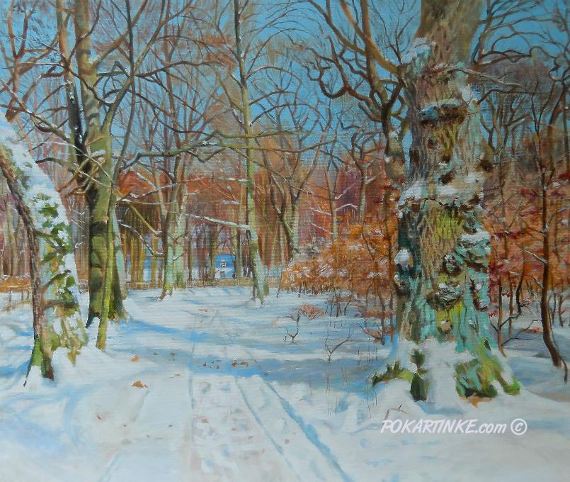 Зимний парк - картинная галерея PoKartinke.com