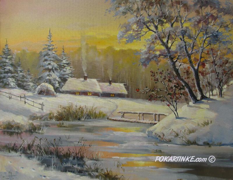 Зимний вечер - картинная галерея PoKartinke.com