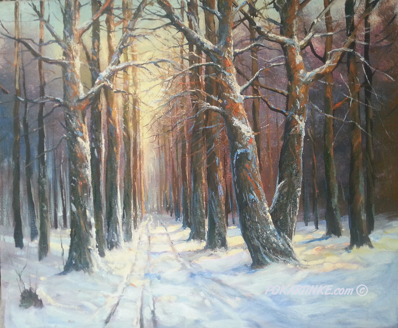 Зимняя аллея - картинная галерея PoKartinke.com