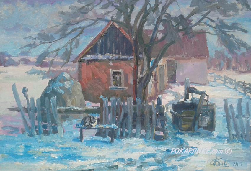 Зимова хата - картинная галерея PoKartinke.com