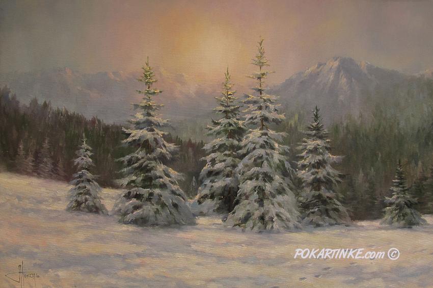 Зимова тиша - картинная галерея PoKartinke.com